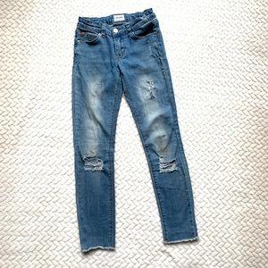 HUDSON jeans girls 10 distressed skinny jeans
